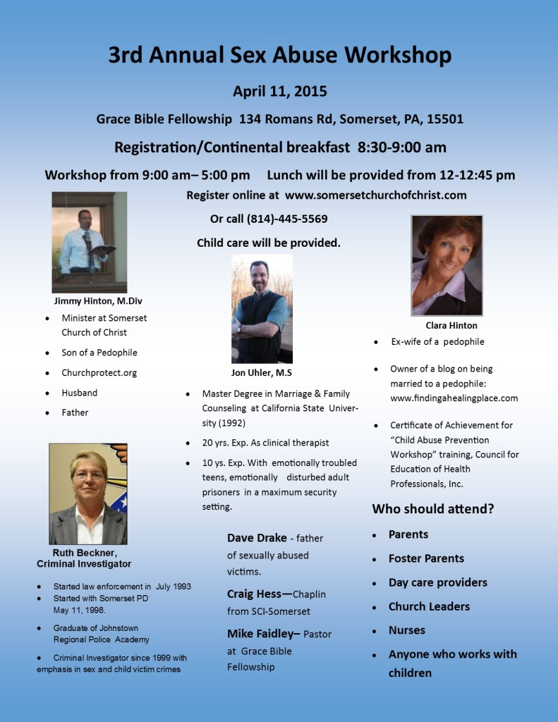 3rd Annual Sex Abuse Workshop Flyer